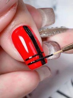 Nail Art Designs Videos, Nail Art Videos, Simple Nail Art Designs, Nail Designs, Elegant Nail Art, Pretty Nail Art, Nail Art Hacks, Nail Art Diy, Make Nails Grow
