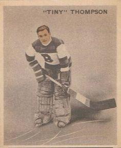 Tiny Thompson - Boston Bruins. 1933-34 rookie hockey card.