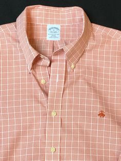 Men's Brooks Brothers Plaid Button Down Oxford Shirt Size XL | eBay