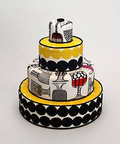 Marimekko Cake, very cool!