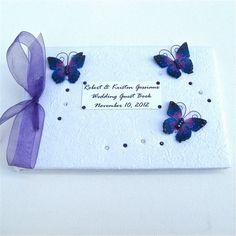 Personalised Purple Butterfly Wedding Guest by dottiedesignsxx, £24.95