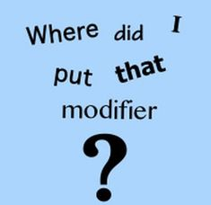 5 types of misplaced modifiers - We offer free classes on the Eastern Shore of MD to help you earn your GED - H.S. Diploma or Learn English (ESL) .   For GED classes contact Danielle Thomas 410-829-6043 dthomas@chesapeke.edu  For ESL classes  contact Karen Luceti - 410-443-1163  Kluceti@chesapeake.edu .  www.chesapeake.edu