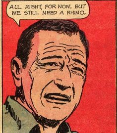 All right, for now. But we'll still need a rhino.