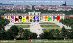 Schönbrunn Wien, Vienna in Dots Design / Photo © Kekeye Design e. Dots Design, Vienna, Mansions, Eyes, House Styles, Home Decor, Mansion Houses, Homemade Home Decor, Manor Houses