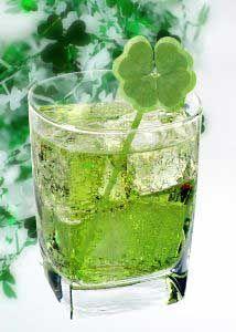 cocktail - midori, mango vodka, & champagne