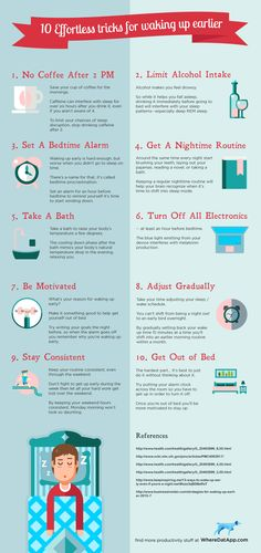 10 Effortless Tips to Waking Up Earlier [Infographic