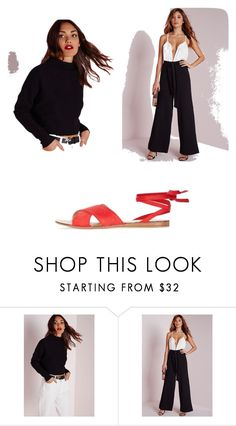 """""""Untitled #5048"""" by clarry-sinclair ❤ liked on Polyvore featuring Missguided and Topshop"""