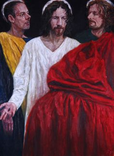 Rob Floyd Fine Art - Stations of the Resurrection, 6. Christ Appears to His Disciples