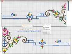 This Pin was discovered by Şen Cross Stitch Borders, Cross Stitch Rose, Cross Stitch Charts, Cross Stitch Designs, Cross Stitch Patterns, Baby Dress Patterns, Baby Knitting Patterns, Embroidery Patterns, Vintage Cross Stitches