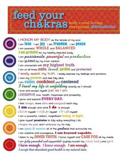 Feed your chakras