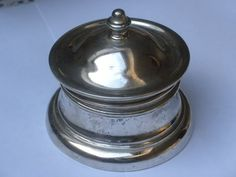 Antikes Tintenfass Silber massiv Sterling Silver Inkwell