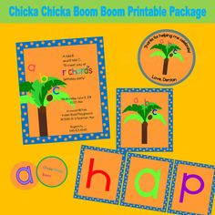 Chicka Chicka Boom Boom Boy's Printable Party Package by aboyslife, $29.99