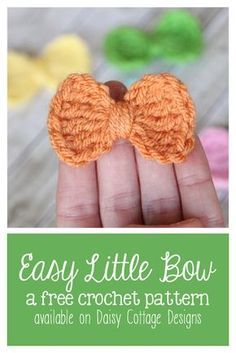 Easy Little Bow Crochet Pattern - There is a mistake in the instructions but it is easy to overcome.