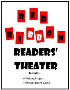 Your students will have fun performing for Red Ribbon Week, this 7-part script.  Included is a short writing project and partner game.  Make Red Ribbon Week in your classroom both educational and fun!