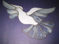 peace dove suncatchers | Stained Glass White Dove Bird Holy Spirit in Flight MADE 30 YEARS AGO ...