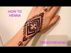 ЛЕГКИЙ рисунок ХНОЙ на руках / SIMPLE HENNA designs for BEGGINERS
