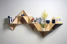 T. SHELF or Triangular shelf is a modular system designed by J1.