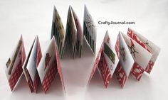 One Sheet Advent Pocket Books - paper crafts  (can be adapted for other seasons)