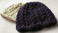 EASY crochet baby hat tutorial - chunky ribbed baby hat (+other crochet video tutorials)