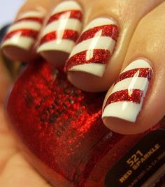 #Christmas nails! Love!     -   http://vacationtravelogue.com For Hotels-Flights Bookings Globally Save Up To 80% On Travel   - http://wp.me/s291tj-464