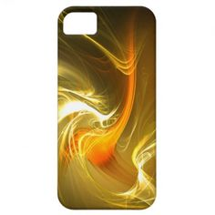 Yellow Fire Glow #2  -  iPhone 5 Fractal Art Design Case By Peter Chassé