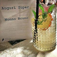 Festeggiare il compleanno del nonno a cena nel miglior cocktail restaurant bar del trentino non ha prezzo. 😎 Auguri super nonno Bruno! #90anni #coredo