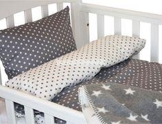 Nørgaard Madsen baby sengetøj, grå stjerner