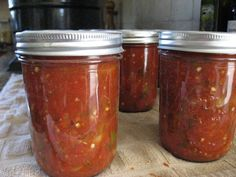 Best Home Canned Thick and Chunky Salsa 3 This is the best I've tried! Do it again next year Kim Canned Salsa Recipes, Fresh Tomato Recipes, Canning Recipes, Homemade Chunky Salsa, Baked Parmesan Tomatoes, Canning Vegetables, Veggies, Canning Salsa, Canned Food Storage