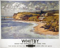 Whitby, Yorkshire. Vintage BR Travel Poster by Gyrth Russell. British Railways.17