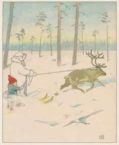 out with the reindeer. Elsa Beskow