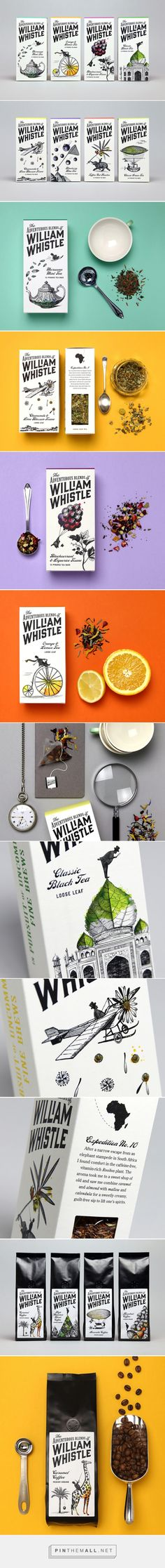Adventures of William Whistle popular tea & coffee brand packaging PD