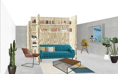 LOGEMENT COUFFOULEUX / Architecture / Design / perspective / collage / France / Toulouse / Render / Ambiance