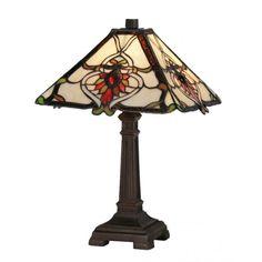 Oaks Lighting Bardane Tiffany Style Table Lamp