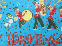Vintage Gift Wrapping Paper  Happy Birthday by TheGOOSEandTheHOUND, $6.00