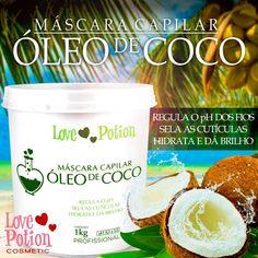 Mascara Hidratação Capilar Óleo De Coco Love Potion - 1kg - R$ 99,95 em Mercado Livre