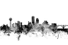 Michael Tompsett Solid-Faced Canvas Print Wall Art Print entitled Knoxville Tennessee Skyline, None Cityscape Art, Skyline Art, Tennessee Tattoo, United States Cities, Skyline Silhouette, Thing 1, East Tennessee, Beauty Art, Photo Booth