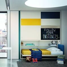 The Kali Ponte is a twin size space saving wall bed (murphy bed) that folds out horizontally and features upper hanging and& shelving storage. Twin Wall Bed, Bed Wall, Laundry Room Storage, Bed Storage, Murphy-bett Ikea, Horizontal Murphy Bed, Resource Furniture, Space Saving Beds, Kid Bedrooms