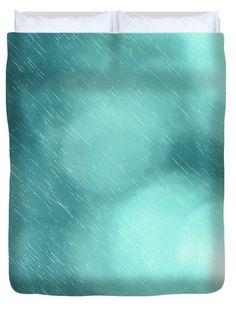 Bokeh Rain Pattern Duvet Cover by Sebastien Coell