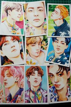 Kpop Exo, Exo Kokobop, Sehun And Luhan, Exo Anime, Ko Ko Bop, Exo Fan Art, Exo Members, Kpop Fanart, Cartoon Styles