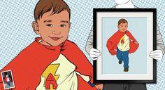 Comic Book Portraits from Photos Pop Art Artists, Portraits From Photos, Framed Prints, Canvas Prints, Cotton Canvas, Vibrant, Comic Books, Hero, Comics
