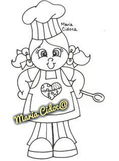 riscos pintura meninas cozinheiras - Pesquisa Google