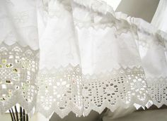 Gardine Landhausstil weiß shabby chic 105