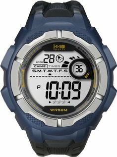 Timex Men's T5K593 1440 Sports Digital Blue/Black Resin Strap Watch Timex. $16.64. 24-Hour Countdown Timer with Stop and Repeat. Water-resistant to 165 feet (50 M). 24-Hour Stopwatch. Indiglo® night-light. 24-hour chronograph. Save 27% Off!
