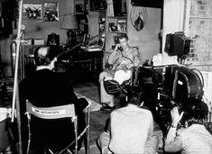"""""""Rear Window,"""" James Stewart, Grace Kelly, and Director Alfred Hitchcock. Alfred Hitchcock, Grace Kelly, Classic Hollywood, Old Hollywood, Hollywood Glamour, Murder, Nostalgia, Great Films, Scene Photo"""