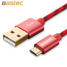 Bastec Micro USB Cable with Metal shell Gold-plated Connector Braided wire for Samsung / Sony / Xiaomi / Huawei Android devices