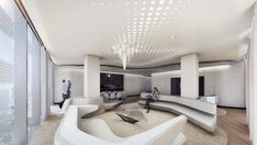 Inside Zaha Hadid's ME Dubai hotel Zaha Hadid Interior, Zaha Hadid Architecture, Interior Architecture, Interior Design, Arquitetos Zaha Hadid, Small Toilet Design, Futuristic Interior, Ceiling Design, Restaurant Design