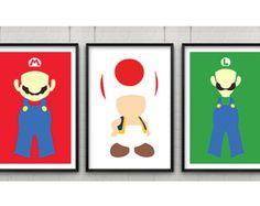 Nintendo Super Mario Art  Video Game CANVAS print van Gogh