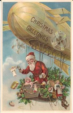 Santa Claus in Zeppelin
