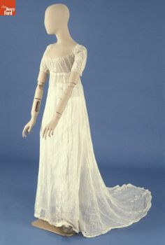 Chemise Dress, - The Henry Ford - Light Blue Dress Shirt, Light Blue Dresses, Regency Dress, Regency Era, 1800s Dresses, Irish Costumes, Chemise Dress, Empire, Henry Ford