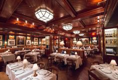 The Polo Bar, NYC: Comfortably elitist, complete with sporty art, deep leather banquettes, and equestrian flair. #restaurant